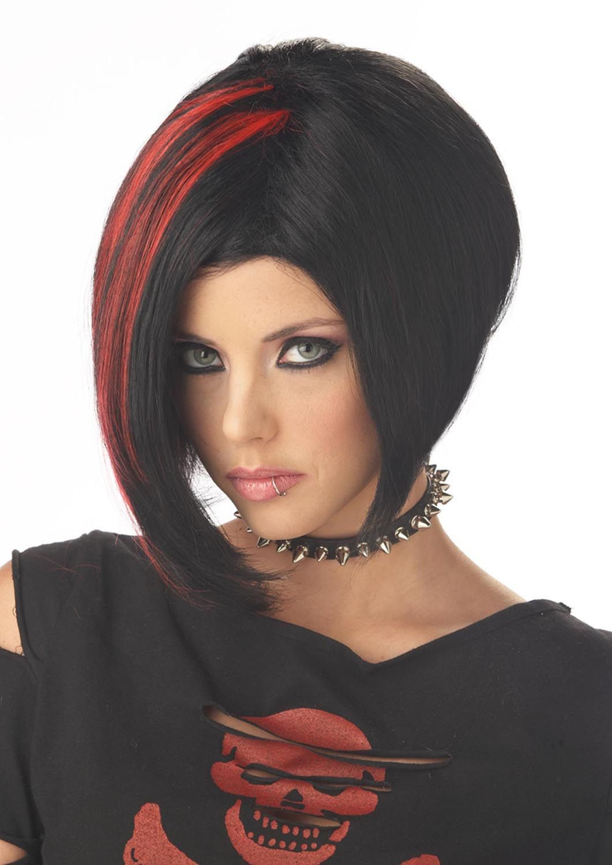 Mood Swing Goth Red Amp Black Costume Wig Adult Ccc C