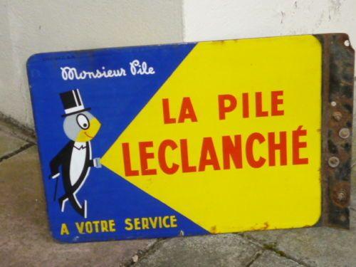 plaque maill e pile leclanch monsieur pile eas strasbourg hoenheim enseigne panneau. Black Bedroom Furniture Sets. Home Design Ideas