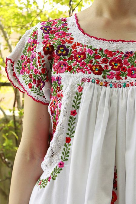 Mexican Embroidery Embriodery Ropa Bordada Blusa
