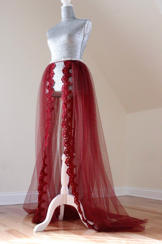 Detachable Wedding Skirt Separates Skirt Tulle Over