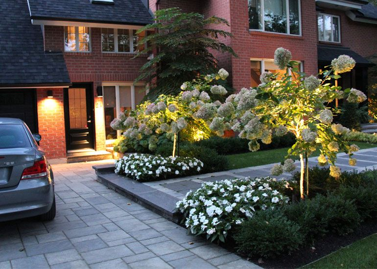Am nagement paysager simple et chic id es jardin for Amenagement jardin facade maison
