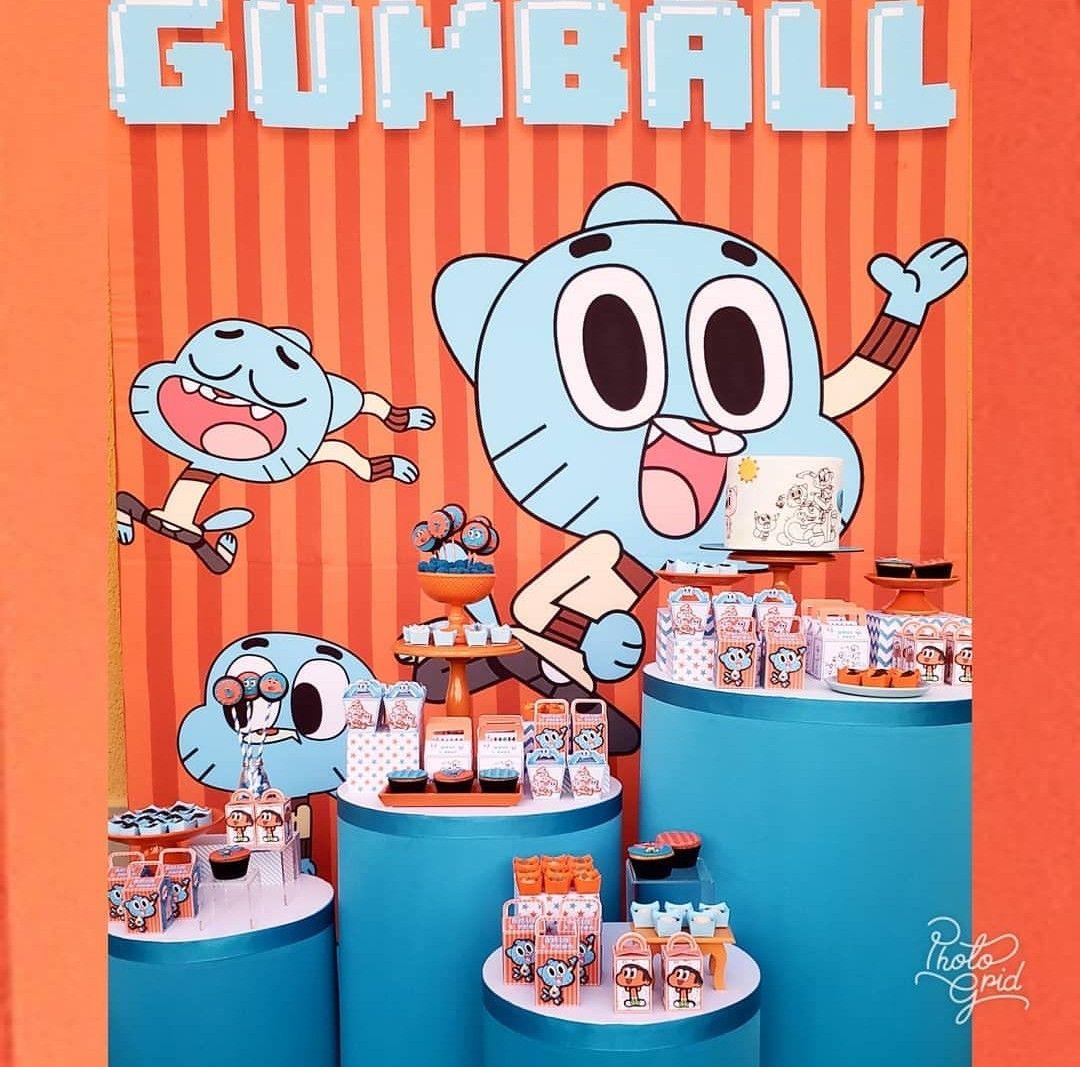 Festa Gumball Incrivel Mundo De Gumball Bola De Chiclete