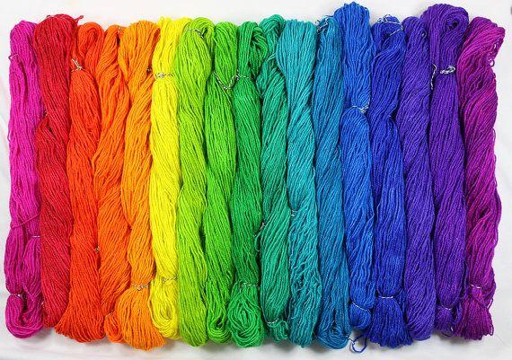 Sterling Neon Rainbow Yarn  17 mini skeins 1700 by Zauberzeug