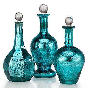 turquoise home decor aqua decor peacock decor turquoise glass turquoise color teal blue decorative bottles decorative items accent decor - Turquoise Home Decor Accessories