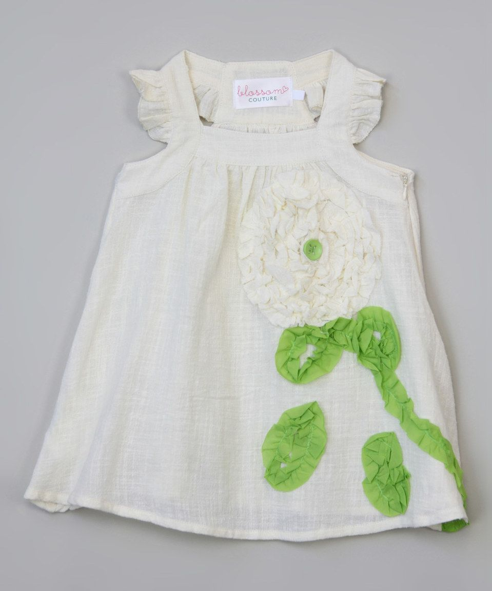 Another great find on #zulily! Ivory Flower Dress - Infant, Toddler & Girls by Blossom Couture #zulilyfinds