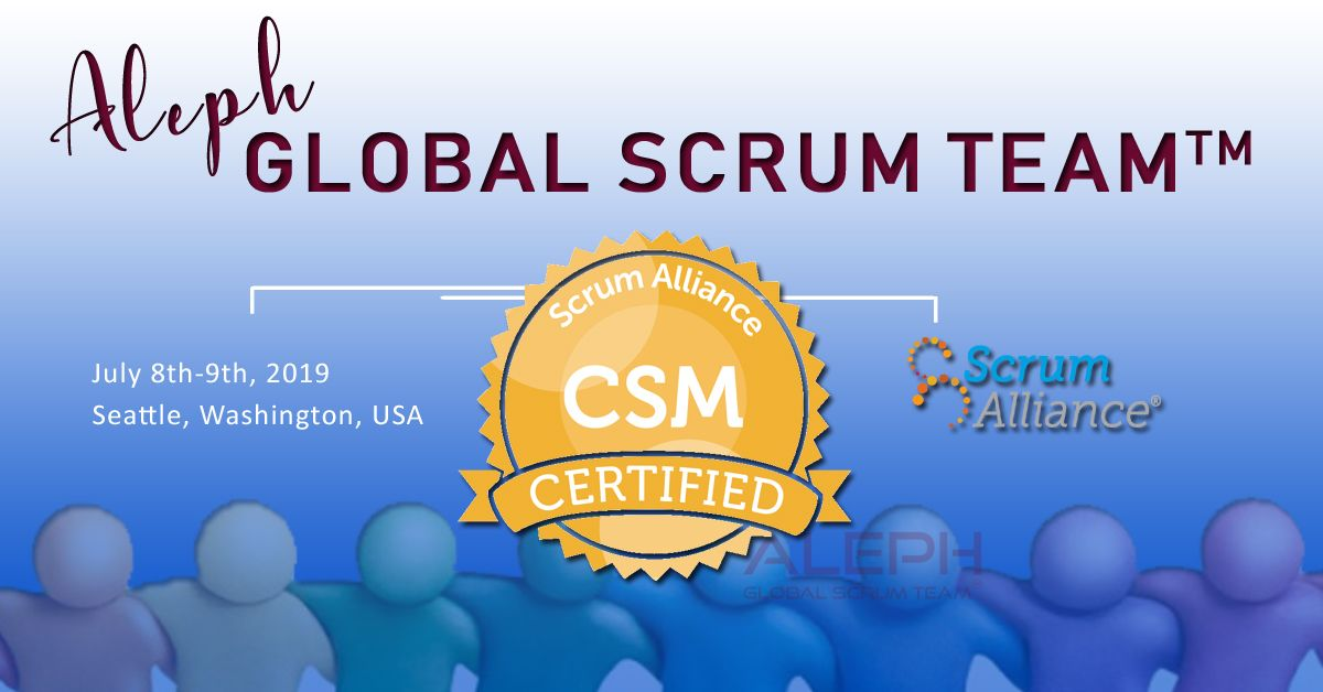 Scrum Master Certifications Online Aleph Technologies Scrum Master Scrum Agile Project Management