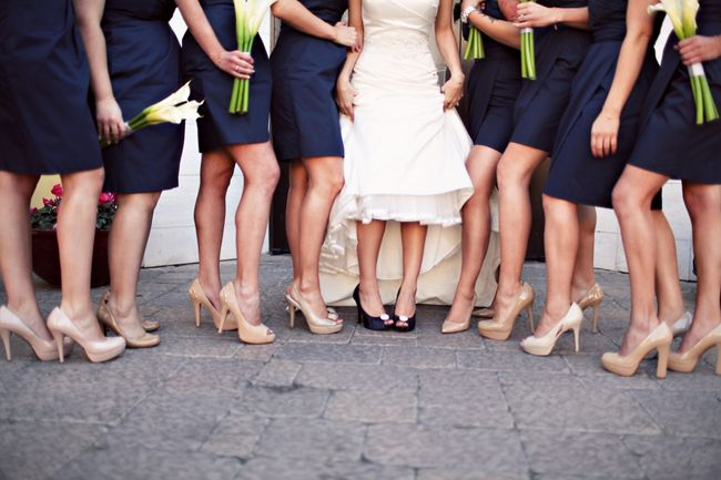 Bridesmaid Shoes With Navy Dresses