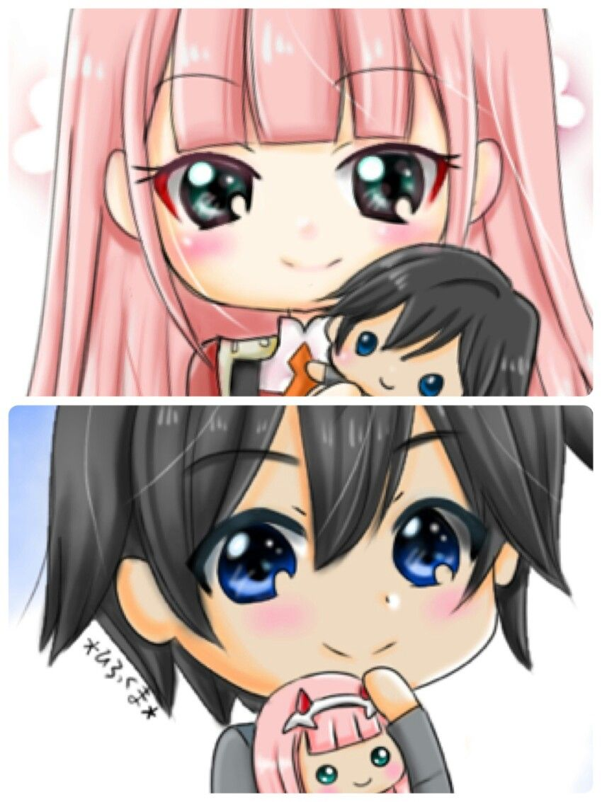 Zero Two X Hiro Darling In The Franxx Anime Anime Chibi
