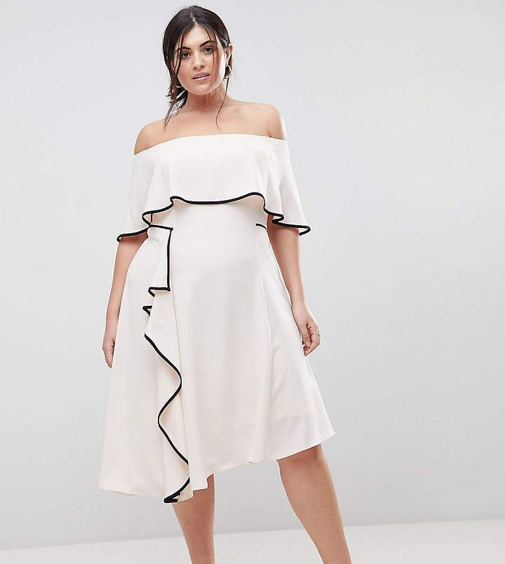 f7ad622ad04096 Coast Plus Bardot Soft Dress With Black Tipping. Plus-size dress by Coast  Plus