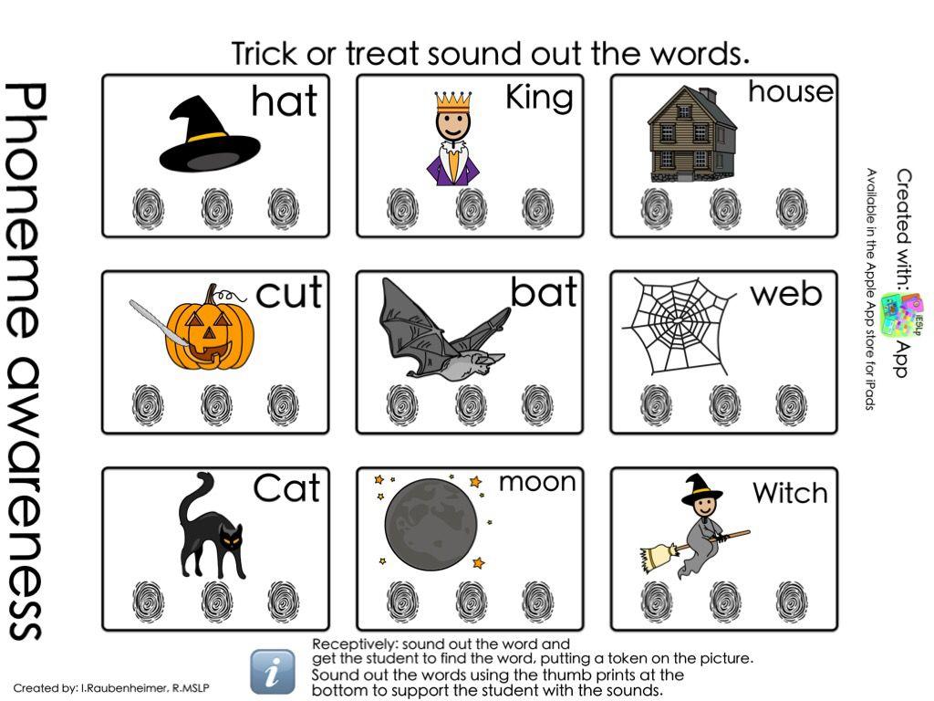 Halloween Phoneme Awareness Print Copy With Images