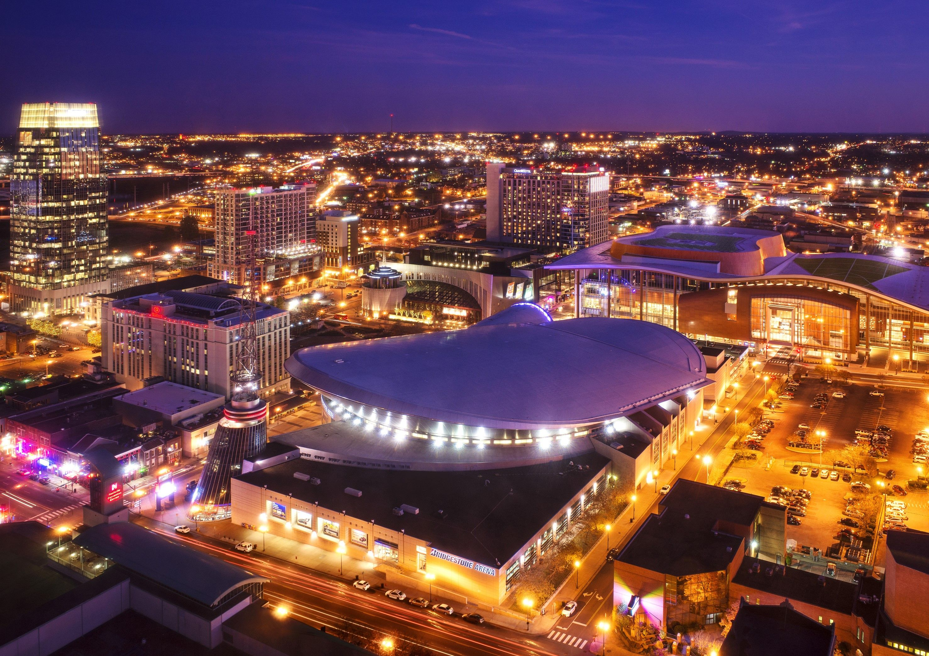 Bridgestone Arena And Music City Center Downtown Nashville Tennessee Usa Music City Mansions Sydney Opera House