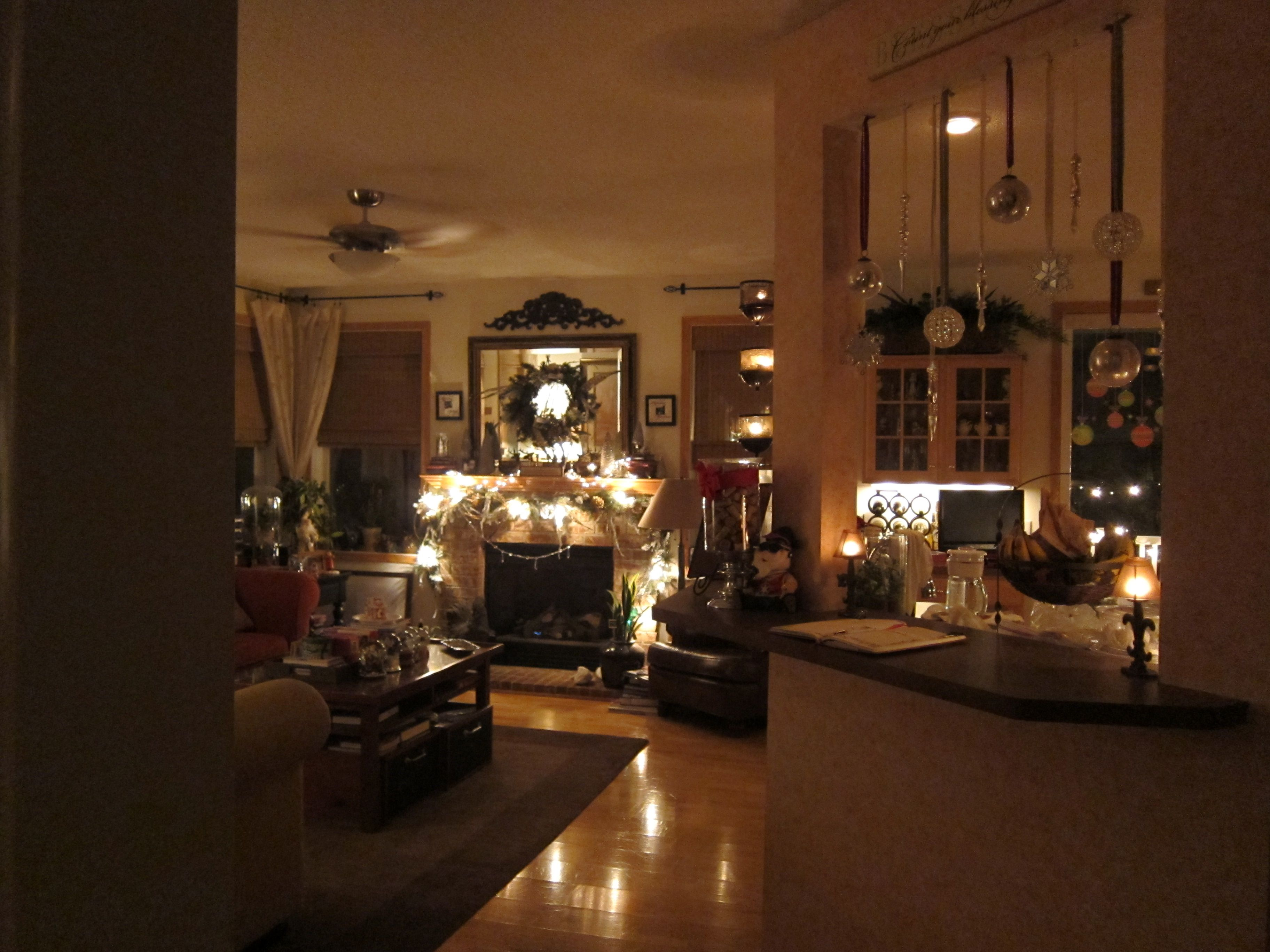 Cozy Christmas Family Room Fireplace Home Stuff