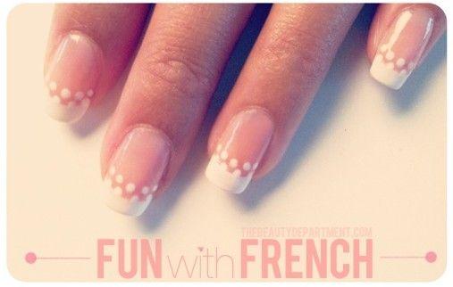 DIY Fun French Nail Art