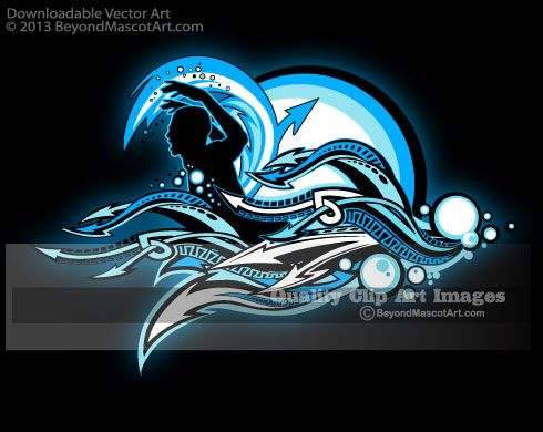 Swimming Clipart - Swimming Silhouette Clip Art 1099 | Spirit Wear ...