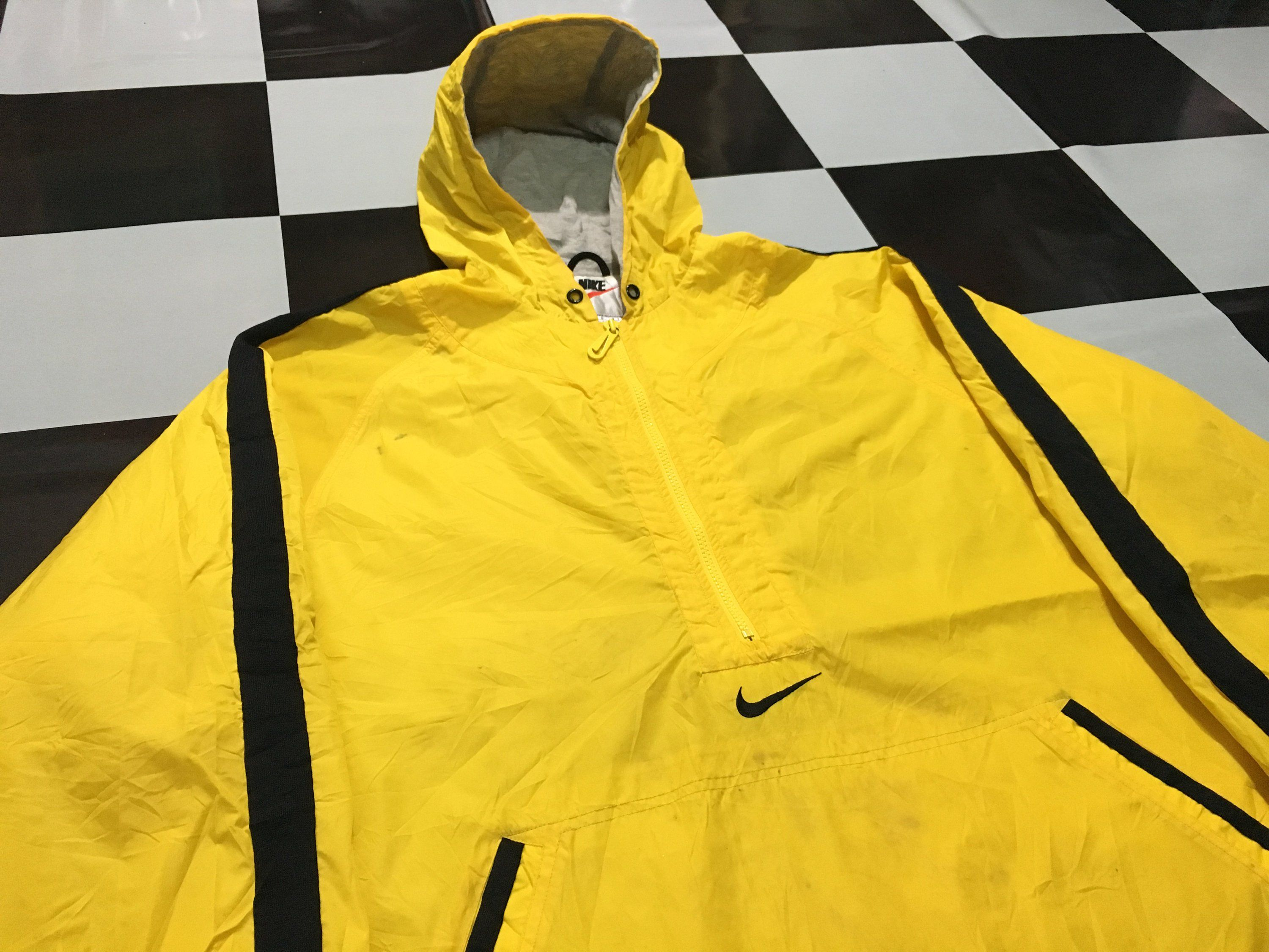 d85e8179254c Vintage Nike pullover half zip windbreaker anorak jacket swoosh logo  embroidered two tone jacket Yellow Black Size L Excellent condition by  AlivevintageShop ...