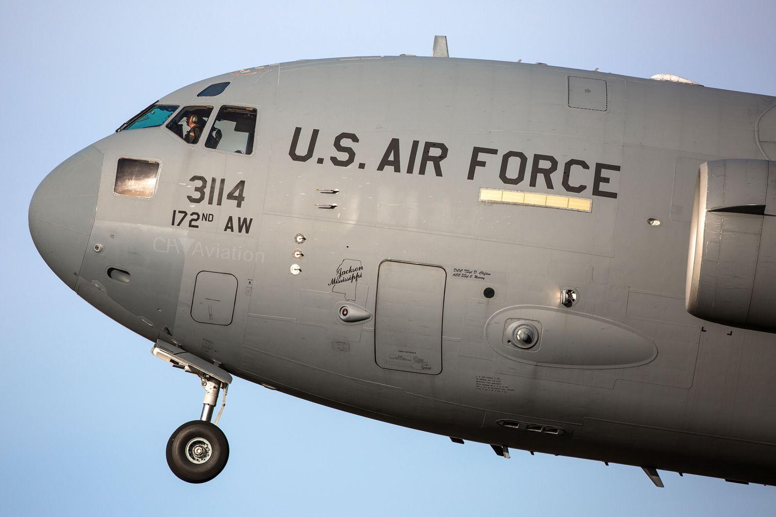 C-17A Globemaster III, 172nd AW, 03-3114
