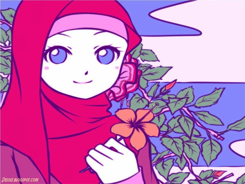 Gambar Wallpaper Kartun Muslimah