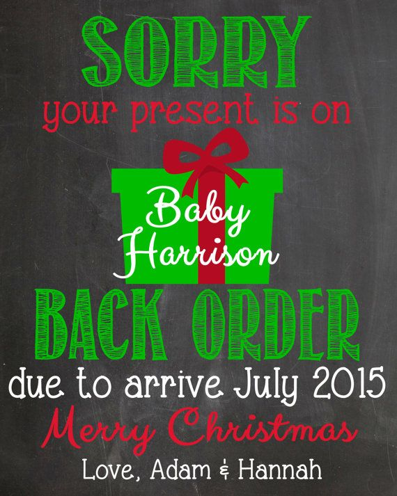 Christmas Pregnancy Announcement Cards