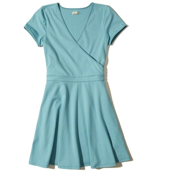 f28f87e9c5 Light blue dresses · Hollister Cap-Sleeve Skater Dress ( 40) ❤ liked on  Polyvore featuring dresses