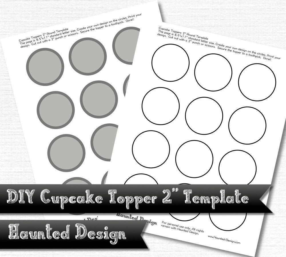 Diy 2 Cupcake Topper Template For Parties Weddings Celebrations Baby Showers Png W Transpa