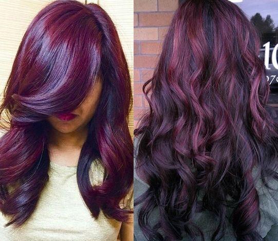 r sultat de recherche d 39 images pour coloration cheveux prune look bordeaux pinterest. Black Bedroom Furniture Sets. Home Design Ideas