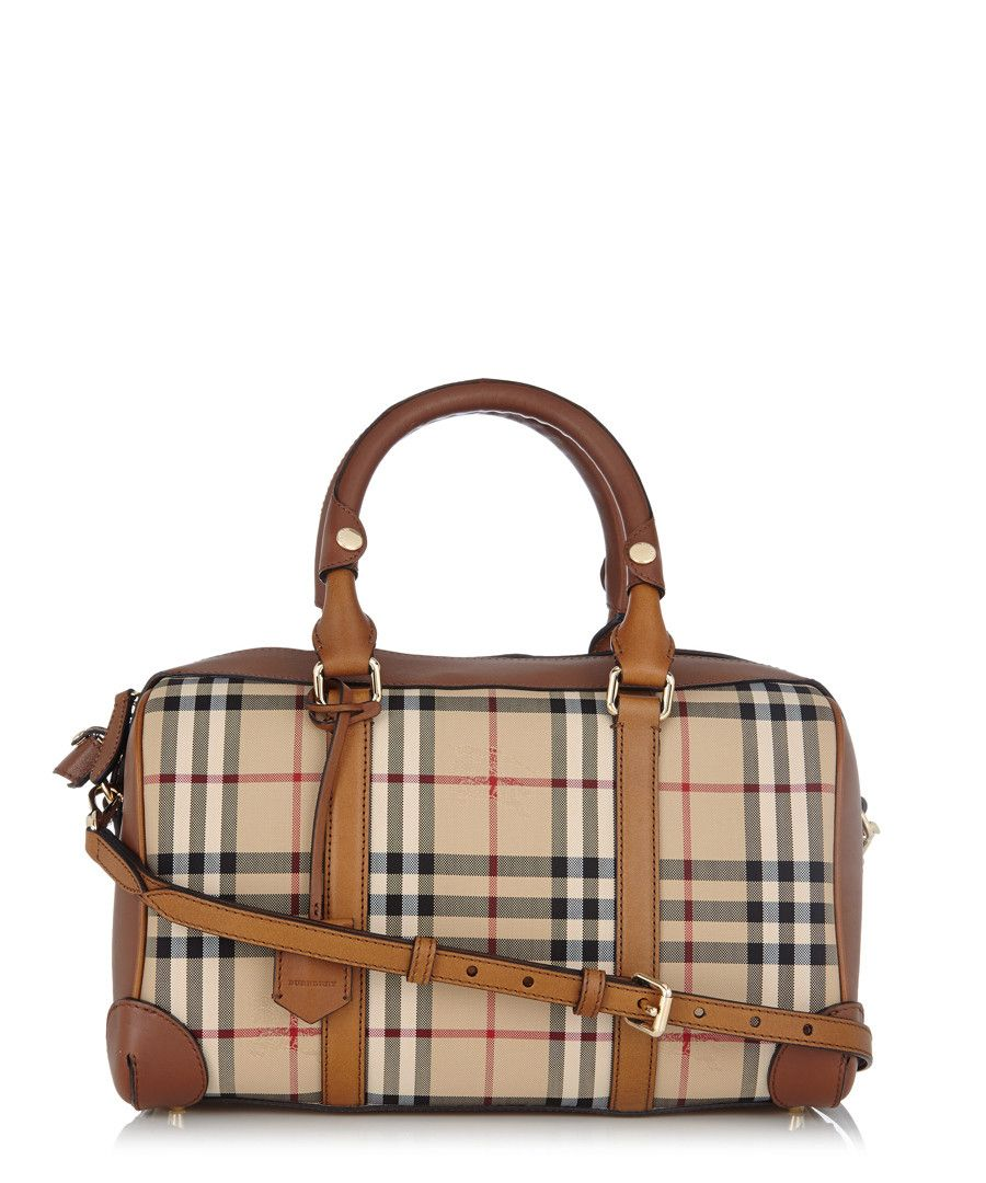 Armour+brown+leather+trim+grab+bag+by+Burberry+on+secretsales.com ... 3ff3e6c106952