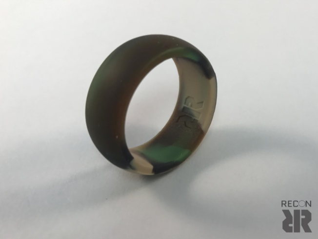 Men's camo silicone wedding ring Camo wedding rings
