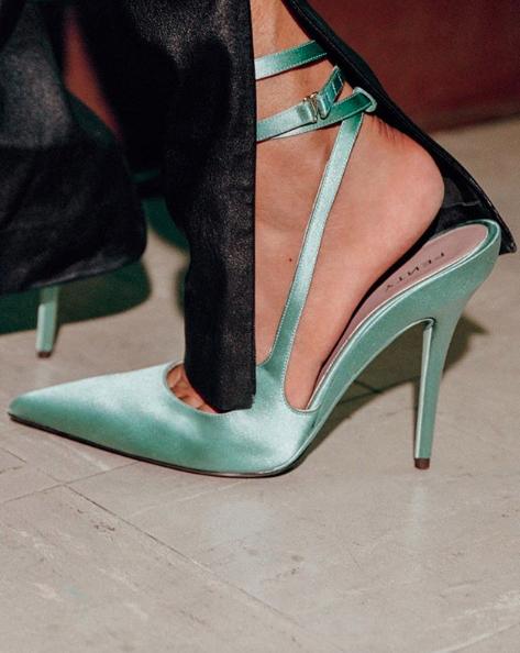 #Fenty #green #shoes by #rihanna #highheels #talonshauts