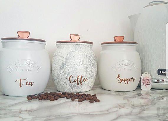 Best Grey Silver White Copper Painted Tea Coffee Sugar Retro 640 x 480