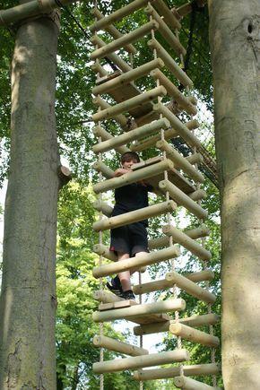 Big Chunky 4 sided Rope Ladders — Treehouses Rope Bridges Treetop Walkways and Nest Swings