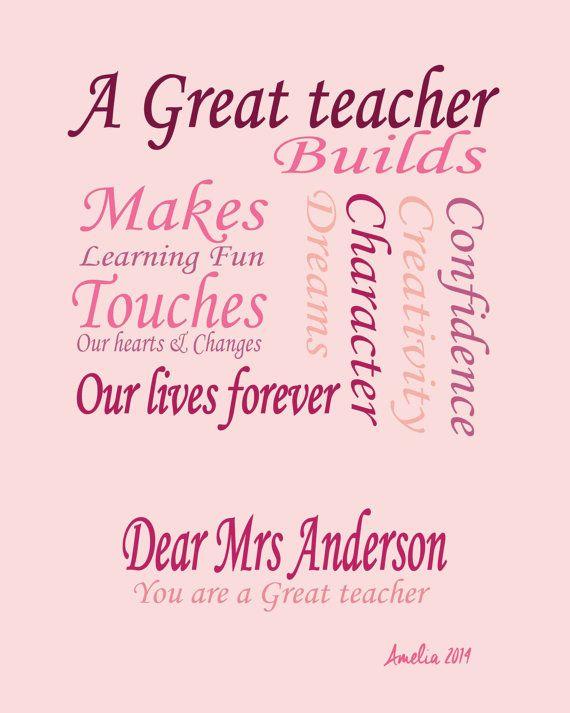 Fabuleux Cadeaux pour les enseignants, citations enseignant, professeur d  DL47