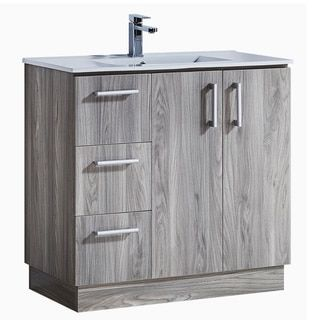 35 Bathroom Vanity With Ceramic Sink With Matching Medicine Cabinet Bathroom Vanity Modern Style Bathroom White Vanity Bathroom