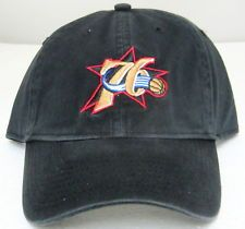 43607d3649c9d NBA Philadelphia 76ers Black Relaxed Fit Adjustable Hat By adidas ...