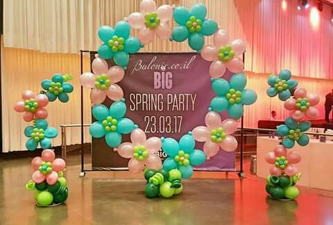 Balloon Flower Ring Party Balloons Balloon Decorations Balloon Design