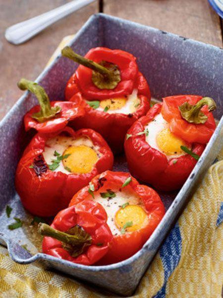 Gefüllte Paprika mit Spinat und Ei Rezept | LECKER #recipeforstuffedpeppers
