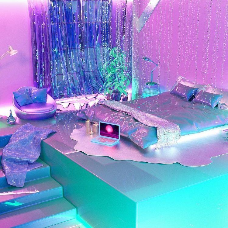 Neon Bedrooms For Teenage Girls: Pinterest @BabygirlJennyM ♡