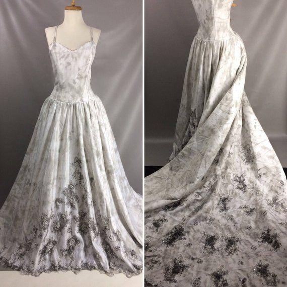 c92e051e0ff Zombie Bride Dress Ghost Bride Grave Costume. Day Of The Dead Dress.  Distressed Vampire Bride Gown.