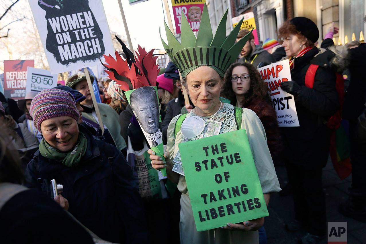 London Womens March Women Ladies Of London