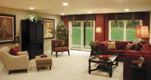 Traditional Living Room Accent Wall Design, Pictures, Remodel, Decor