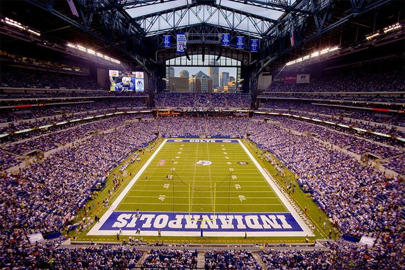 A Colts Game In Indy Indiana Vacation Lucas Oil Stadium