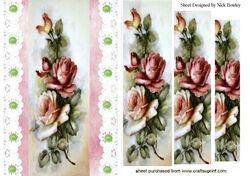 Pretty cascading vintage roses with vintage lace pyramids on Craftsuprint - View Now!