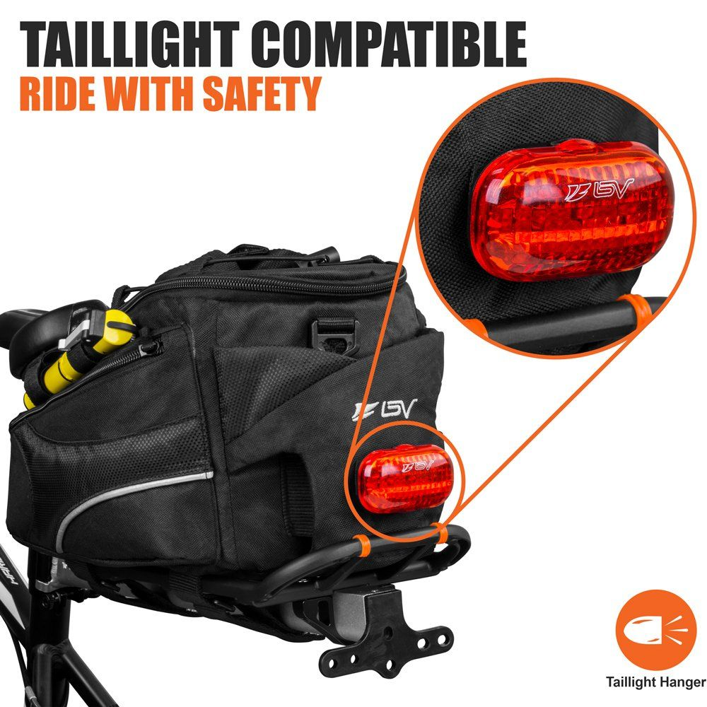 BV Bike Commuter Carrier Trunk Bag with Velcro Pump Attachment Small Water  Bottle Pocket and Shoulder Strap   You can find more details by visiting  the ... 8655bc0a10dd7