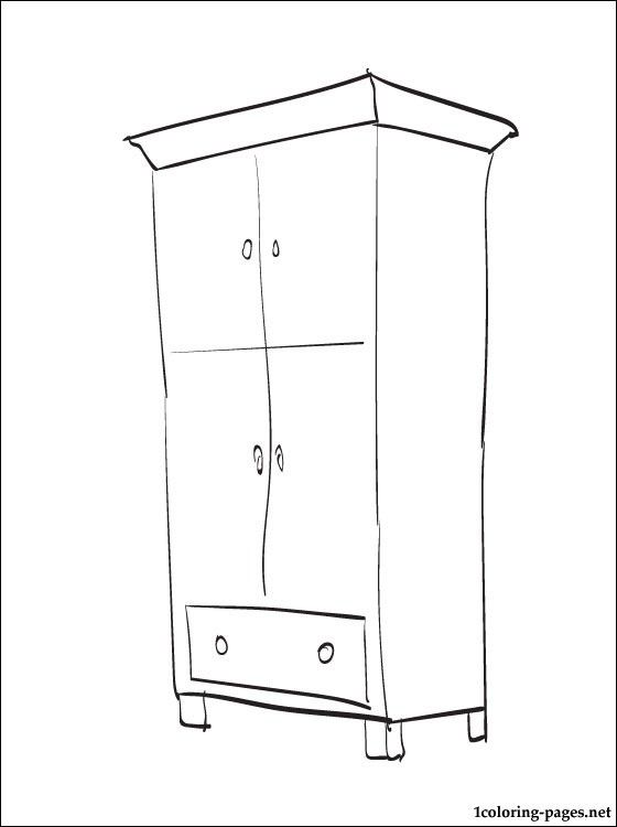 Wardrobe Coloring Page Coloring Pages Locker Storage Wardrobe