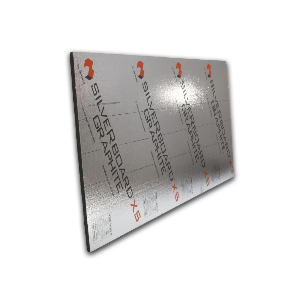 Silverboard 0 625 In X 48 In X 24 In 72 Sq Ft R 3 Graphite Radiant Barrier Wall Insulation Kit 9 Sheets Kit Sbgxs062502pkit The Home Depot In 2020 Radiant Barrier Wall Insulation Door Insulation