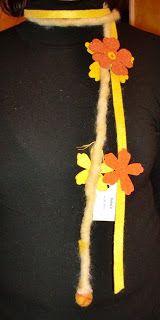 felt scarf/necklace - collana/sciarpa in feltro