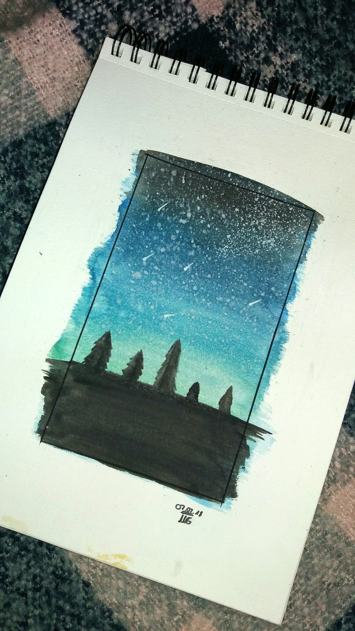 Draws Zeichnung Himmel Aquarelle Wasserfarben Bilder Aquarell Anfanger Aquarell