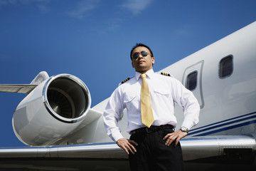 Asian Male Pilot Standing Near Airplane Best Airplane Airplane Pilot Pilot