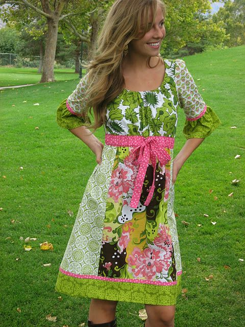 The London Peasant Top/Dress. How I would like to be able to do this for my 2-yr-old daughter!