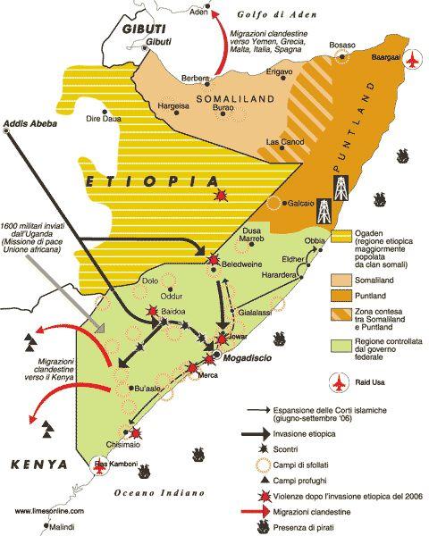 Situazione Politica Somalia Kort