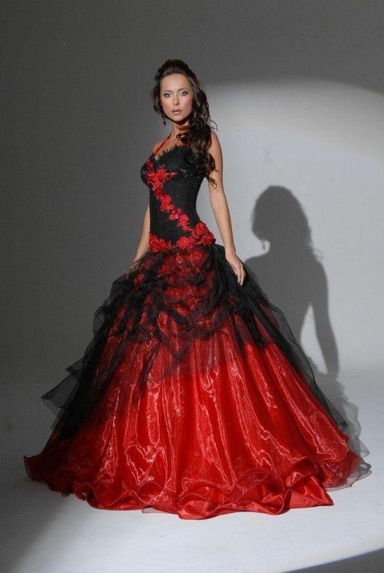 Schwarzes Brautkleid Fur Die Moderne Braut Hochzeit Red Wedding